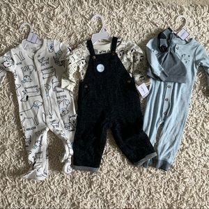 BNWT Bundle of 3 Carter's baby boy outfits.